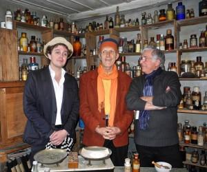 Les deux héros du jour au Petit musée d'Alphonse, en compagnie de Jean-Yves Loriot